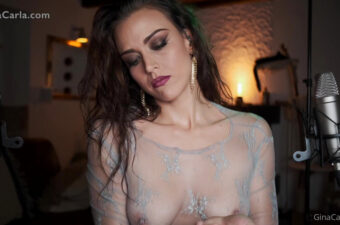 Gina Carla Tits in ASMR Onlyfans Video Leaked