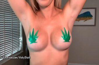 Vicky Stark Marijuana Lingerie Try On Patreon Video