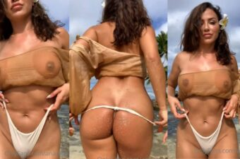 Ana Cheri Teasing On The Beach Video Leaked