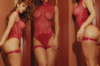 Yanet Garcia Sexy Red Fishnet Video Leaked