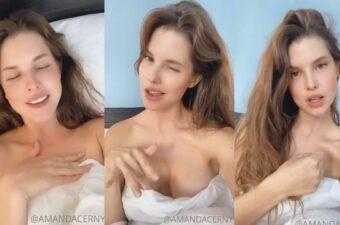 Amanda Cerny Nude Bed Tease Video Leaked
